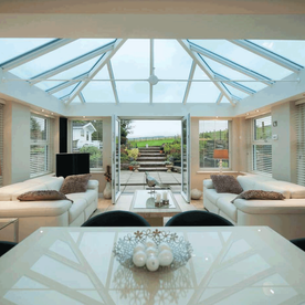 uPVC glass roof, conservatory