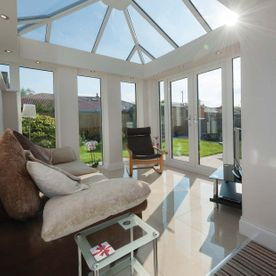 Double glazed conservatory roof